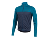 Image 1 for Pearl Izumi Quest Thermal Long Sleeve Jersey (Teal/Navy)