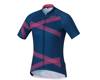 Image 2 for Shimano W's Team Shimano Jersey Navy/Pink XS Women's (NVYPNK)