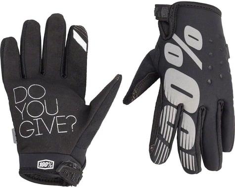 100% Brisker Youth Glove (Black)