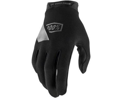 100% Ridecamp Men's Full Finger Glove (Black/Blue) (M)