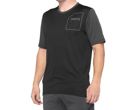 100% Ridecamp Men's Short Sleeve Jersey (Charcoal/Black) (S)