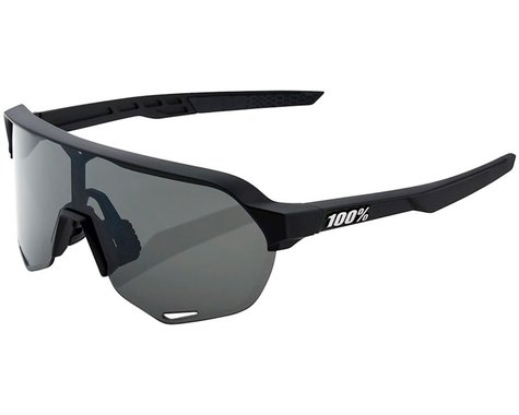 100% S2 Sunglasses (Soft Tact Black) (Smoke Lens)
