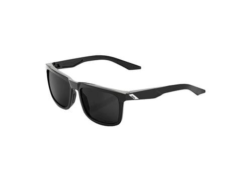 100% Blake Sunglasses (Polished Black) (Grey PeakPolar lens)