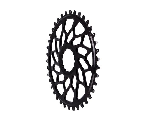 Absolute Black Easton Direct Mount CX Oval Chainring (Black) (3mm Offset (Boost)) (38T)