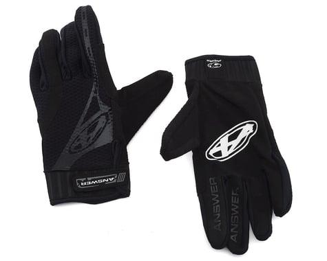 Answer Full Finger BMX Gloves (Black) (S)