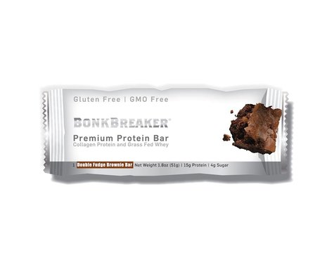 Bonk Breaker Premium Protein Bar (Double Fudge Brownie) (12   2.2oz Packets)