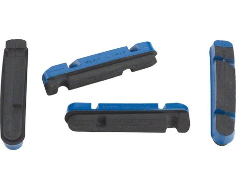 Campagnolo Brake Pad Inserts for PEO Rims (Blue) (2 Pairs) (Shimano/SRAM Holder)
