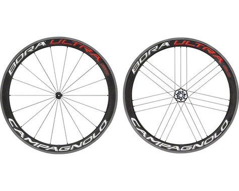 Campagnolo Bora Ultra 50 Carbon Wheelset (Bright Label) (Campagnolo 10/11/12) (QR x 100, QR x 130mm) (700c / 622 ISO)
