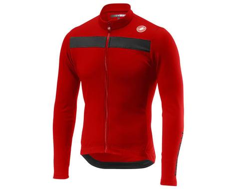 Castelli Puro 3 Long Sleeve Jersey FZ (Red/Black Reflex) (S)
