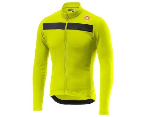Castelli Puro 3 Long Sleeve Jersey FZ (Yellow Fluo/Black Reflex) (S)