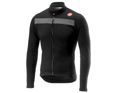Castelli Puro 3 Long Sleeve Jersey FZ (Light Black/Silver Reflex) (S)