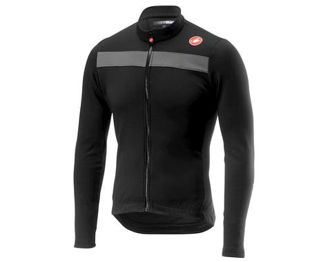Castelli Puro 3 Long Sleeve Jersey FZ (Light Black/Silver Reflex) (XL)