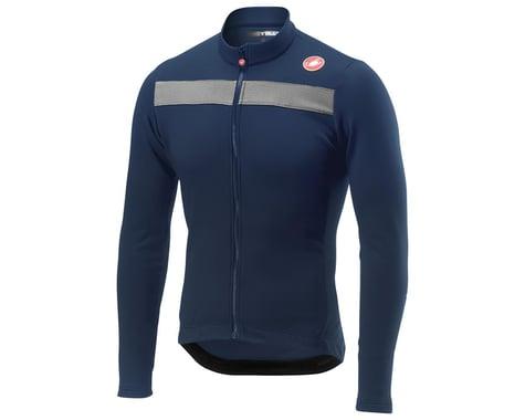 Castelli Puro 3 Long Sleeve Jersey FZ (Savile Blue/Silver Reflex) (S)