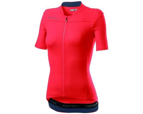 Castelli Anima 3 Women's Short Sleeve Jersey (Brilliant Pink/Dark Steel Blue) (XS)