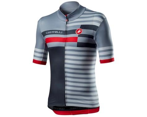 Castelli Mid Weight Pro Short Sleeve Jersey (Vortex Grey) (XL)