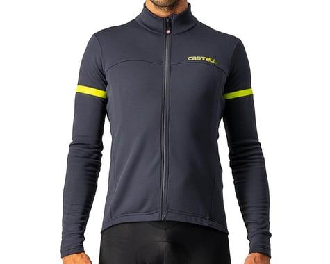 Castelli Fondo 2 Long Sleeve Jersey FZ (Dark Grey/Yellow Fluo Reflex) (S)