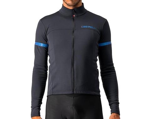 Castelli Fondo 2 Long Sleeve Jersey FZ (Light Black/Blue Reflex) (2XL)