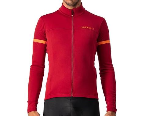 Castelli Fondo 2 Long Sleeve Jersey FZ (Pro Red/Orange Reflex) (L)