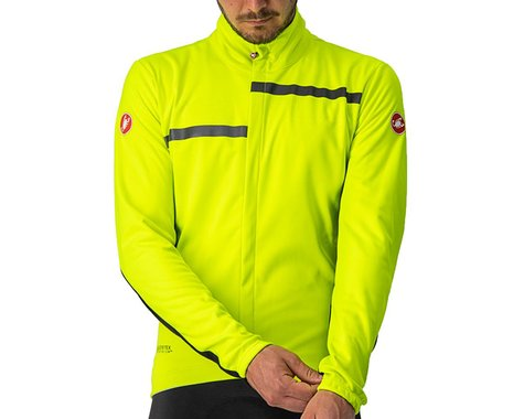 Castelli Transition 2 Jacket (Yellow Fluo/Black-Black Reflex) (XL)