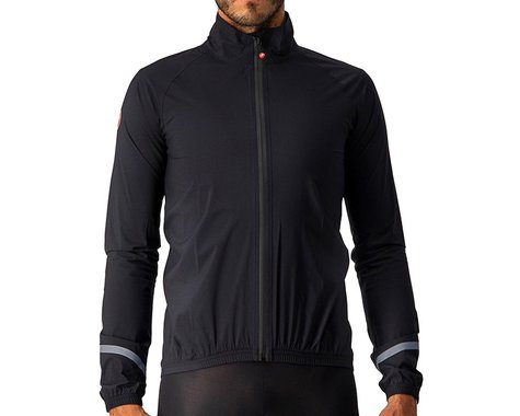 Castelli Men's Emergency 2 Rain Jacket (Light Black) (M)