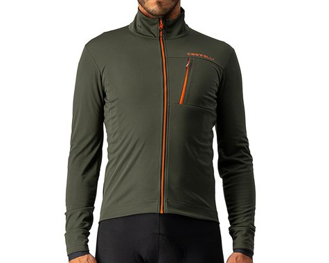 Castelli Go Jacket (Military Green/Fiery Red) (M)