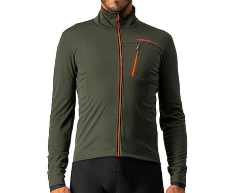 Castelli Go Jacket (Military Green/Fiery Red) (L)