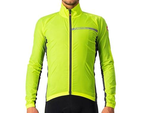 Castelli Men's Squadra Stretch Jacket (Yellow Fluo/Dark Grey) (S)