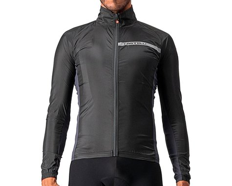 Castelli Men's Squadra Stretch Jacket (Light Black/Dark Grey) (S)