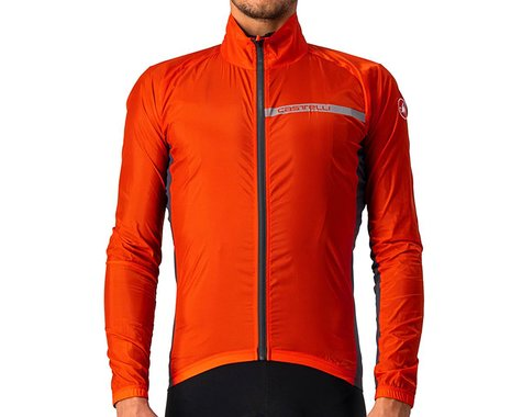 Castelli Men's Squadra Stretch Jacket (Fiery Red/Dark Grey) (L)