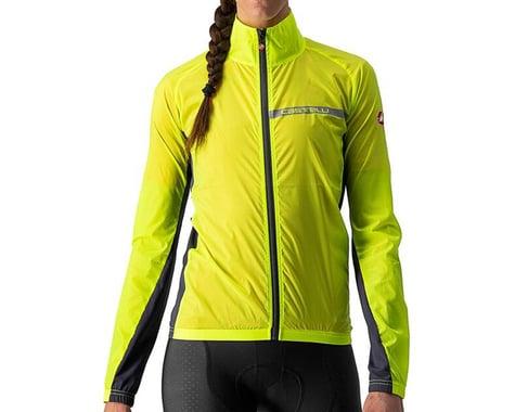 Castelli Women's Squadra Stretch Jacket (Yellow Fluo/Dark Grey) (XS)