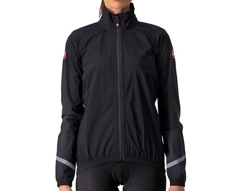 Castelli Women's Emergency 2 Rain Jacket (Light Black) (M)