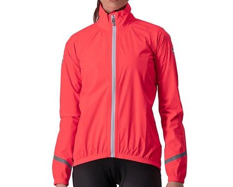 Castelli Women's Emergency 2 Rain Jacket (Brilliant Pink) (XL)
