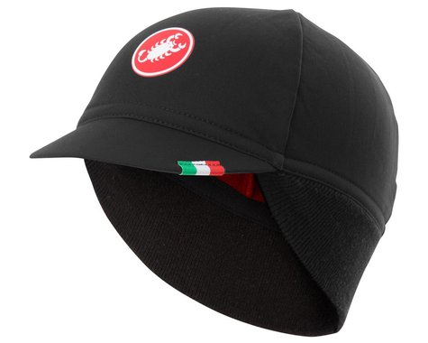 Castelli Difesa Thermal Cap (Black/Red) (Universal Adult)