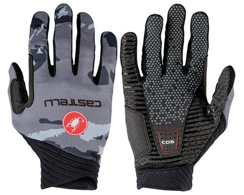 Castelli CW 6.1 Unlimited Long Finger Gloves (Grey/Blue) (L)