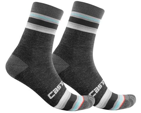 Castelli Striscia 13 Women's Socks (Dark Grey) (S/M)