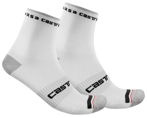 Castelli Rosso Corsa Pro 9 Socks (White) (S/M)