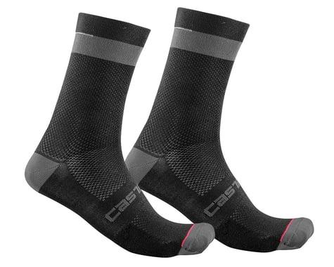 Castelli Alpha 18 Socks (Black/Dark Grey) (S/M)
