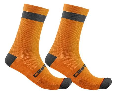 Castelli Alpha 18 Socks (Brilliant Orange/Black) (S/M)