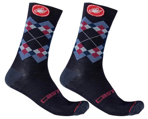 Castelli Rombo 18 Socks (Savile Blue/Indigo/Dusk Blue) (L/XL)
