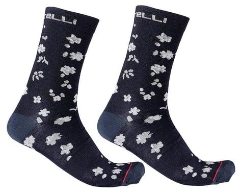 Castelli Fuga 18 Socks (Savile Blue/Silver Grey) (S/M)