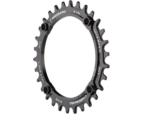 Chromag Sequence X-Sync Chainring (104mm BCD) (Ai Offset) (30T)