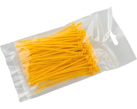"""Cobra Ties 6"""" x 18lb (155 x 2.5mm) Miniature Zip Ties, Yellow, Bag of 100"""