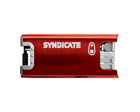 Crankbrothers F15 multi tool with case, Syndicate edition red