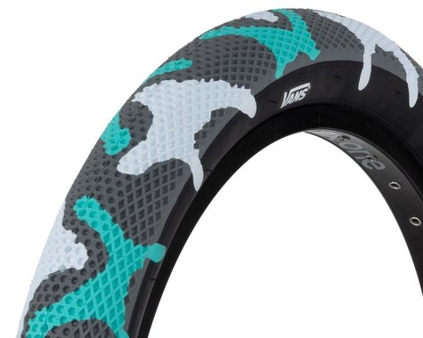 """Cult Vans Tire (Teal Camo/Black) (Wire) (2.4"""") (20"""" / 406 ISO)"""