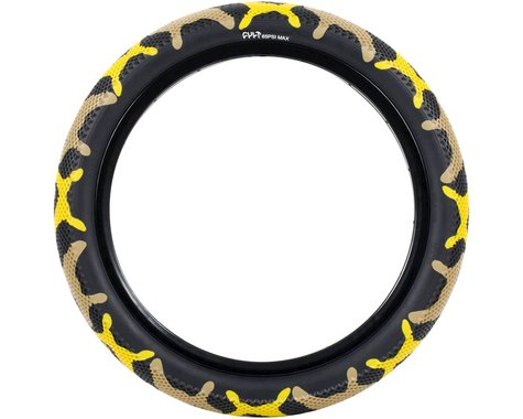 "Cult Vans Tire (Yellow Camo/Black) (Wire) (2.4"") (20"" / 406 ISO)"