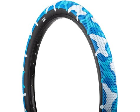 "Cult Vans Tire (Blue Camo/Black) (Wire) (2.2"") (14"" / 254 ISO)"