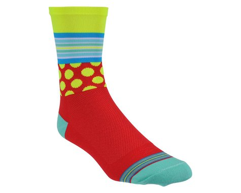 "DeFeet  Aireator 5"" Socks (Mashup Red/Yellow)"