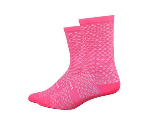 "DeFeet Evo Mount Ventoux 6"" Socks (Flamingo Pink) (L)"