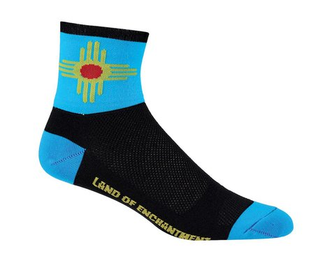 """DeFeet Aireator 5"""" Socks (New Mexico) (M)"""