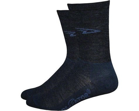 "DeFeet Wooleator 5"" D-Logo Sock (Charcoal Grey) (S)"